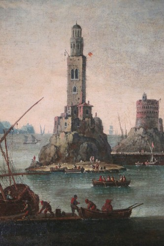 18th century -  Marine - Atributed  to Alessandro Grevenbroeck (born in the 17th century in Padua)