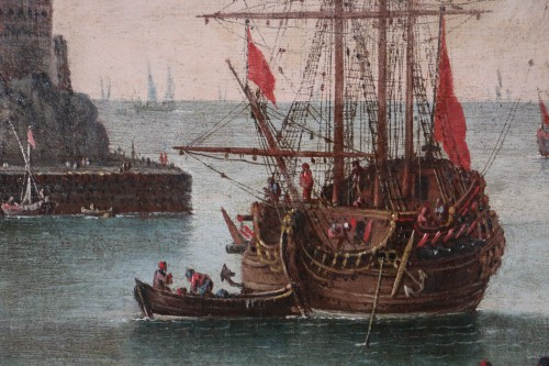 Marine - Atributed  to Alessandro Grevenbroeck (born in the 17th century in Padua) - Louis XIV