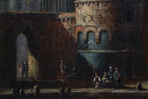 17th century - Marine at the gates of a Byzantine city - 17th century Dutch school attributed to Cornelis de Wael (1592, 1667) and workshop