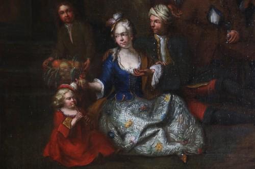 Jan Josef Horemans the Elder (1682,1759) - Family scene and his suit - Paintings & Drawings Style Louis XIV