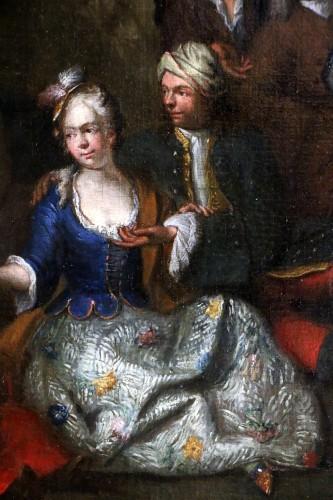 Paintings & Drawings  -  Jan Josef Horemans the Elder (1682,1759) - Family scene and his suit