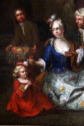 Jan Josef Horemans the Elder (1682,1759) - Family scene and his suit -
