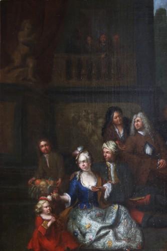 18th century -  Jan Josef Horemans the Elder (1682,1759) - Family scene and his suit