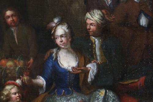 Jan Josef Horemans the Elder (1682,1759) - Family scene and his suit - Louis XIV