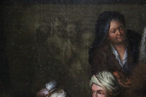 Antiquités -  Jan Josef Horemans the Elder (1682,1759) - Family scene and his suit