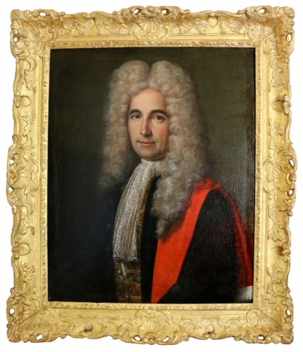 French school signed and dated, portrait of a young gentleman
