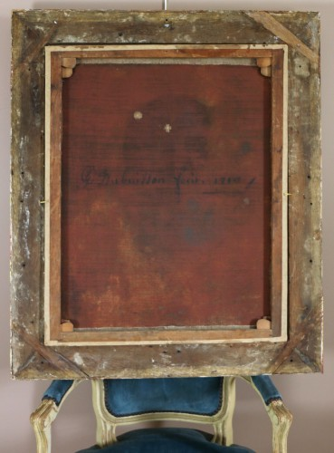 French school signed and dated, portrait of a young gentleman -