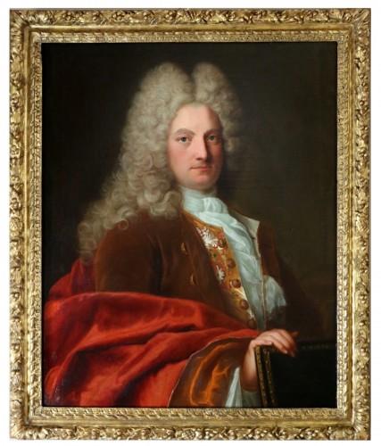 Portrait of a gentleman circa 1720 - Attributed to Robert Levrac de Tounières (1667-1752)