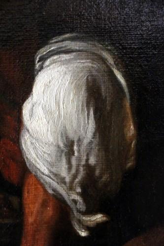 17th century -  17th century Caravaggio School: Jesus shares bread with the Pilgrims of Em