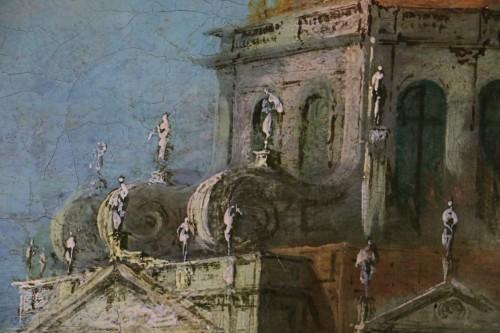 Antiquités - View of Venice, Vedute  -  School or workshop of Francesco Guardi (1712-1793)