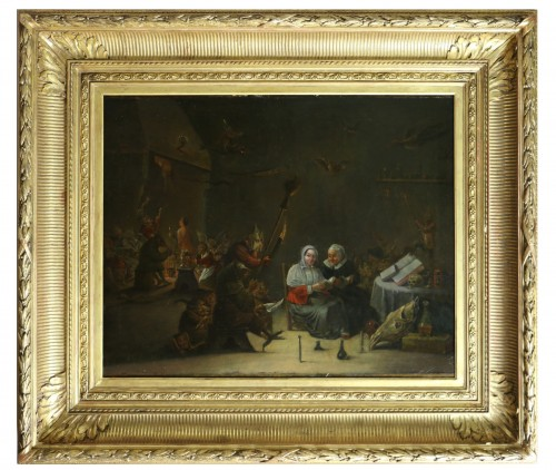 18th century Dutch school (signed) after a work by Téniers