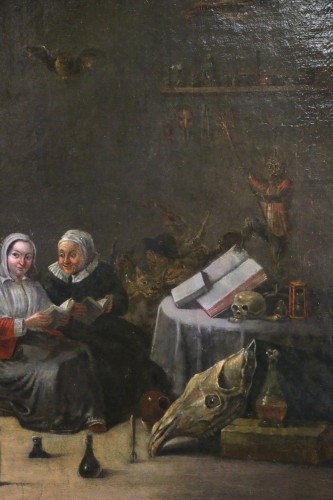 18th century Dutch school (signed) after a work by Téniers -