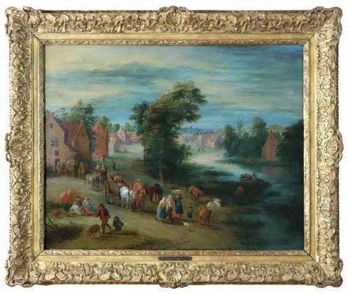 Theobald Michau (1676- 1765))  - Village and river scene