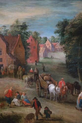 Theobald Michau (1676- 1765))  - Village and river scene -