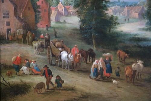 Theobald Michau (1676- 1765))  - Village and river scene - Louis XV