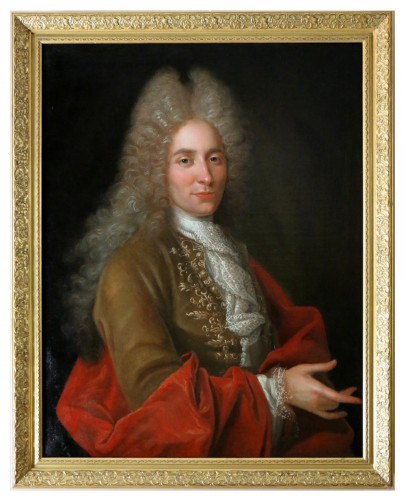 Portrait of a gentleman - French school, early 18th century