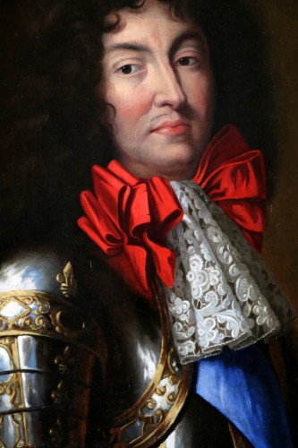 Louis XIV - Large Portrait of Louis XIV in armor Attributed to Jean Nocret (1615, 1672)