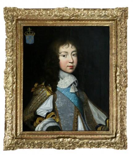 Portrait of Louis XIV - Attributed to  Louis Ferdinand II Elle (1612; 1689)