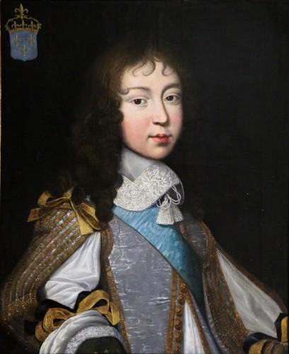 Portrait of Louis XIV - Attributed to  Louis Ferdinand II Elle (1612; 1689) - Paintings & Drawings Style Louis XIV