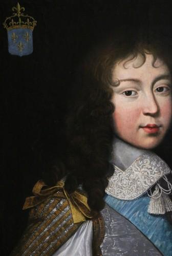 Antiquités - Portrait of Louis XIV - Attributed to  Louis Ferdinand II Elle (1612; 1689)