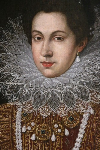 18th century - Portrait of Anne of Austria (1601; 1666), Queen of France after Pourbus