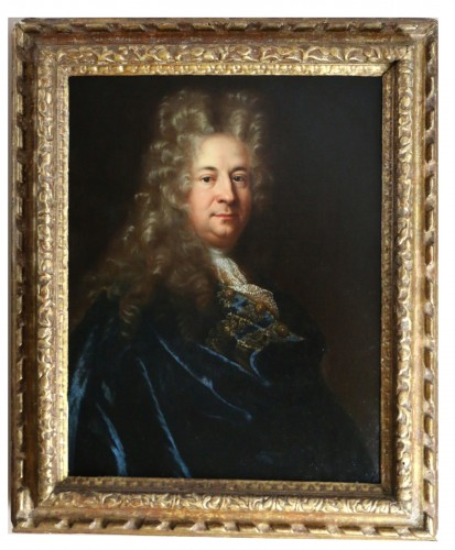Presumed portrait of Marin Marais, composer - French school from the end of the 17th century attributed to Andre Bouys (1656; 1740)