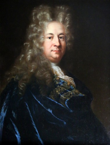Paintings & Drawings  - Presumed portrait of Marin Marais, composer - French school from the end of the 17th century attributed to Andre Bouys (1656; 1740)