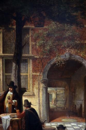 19th century - Hendrik Leys (1815-1869) - Scene of life in a courtyar