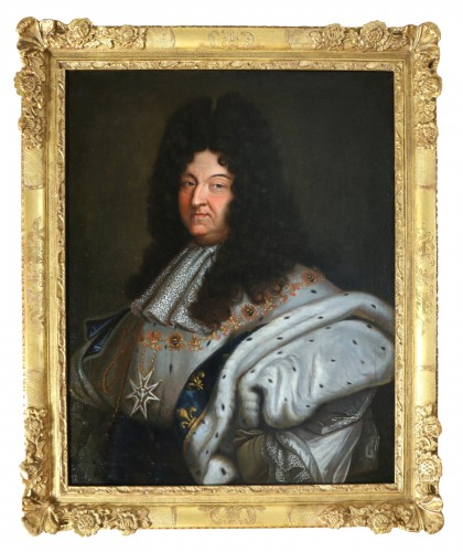 Portrait of Louis XIV in coronation costume, French school of the 18th cent