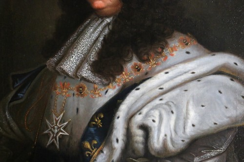 Portrait of Louis XIV in coronation costume, French school of the 18th cent -