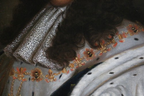 Portrait of Louis XIV in coronation costume, French school of the 18th cent - Louis XIV