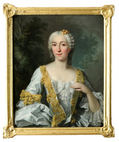 Portrait of a quality lady - Attributed to Louis Tocqué (1696-1772)