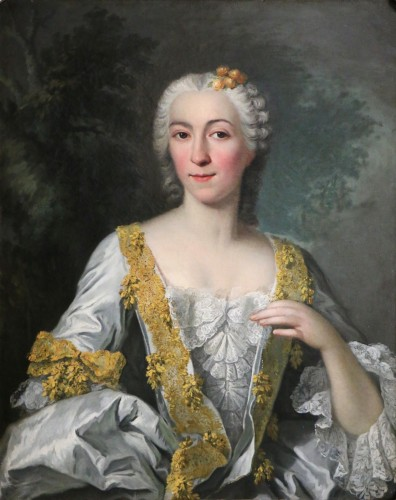 Portrait of a quality lady - Attributed to Louis Tocqué (1696-1772) - Paintings & Drawings Style Louis XV