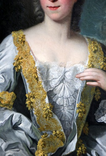Paintings & Drawings  - Portrait of a quality lady - Attributed to Louis Tocqué (1696-1772)