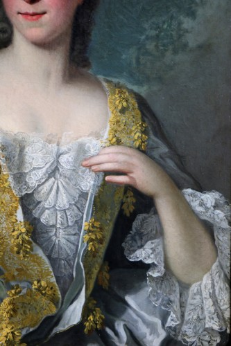 18th century - Portrait of a quality lady - Attributed to Louis Tocqué (1696-1772)
