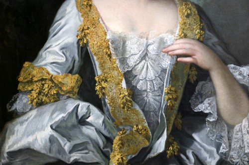 Portrait of a quality lady - Attributed to Louis Tocqué (1696-1772) - Louis XV