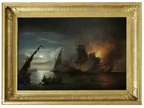 Thomas Luny (1759-1837)  - Barbary Wars (1801; 1816) Naval battle 1815
