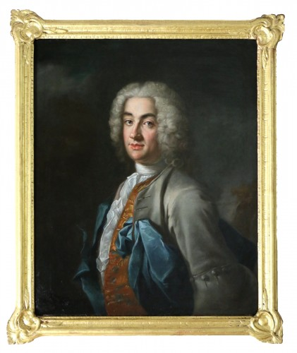 Portrait of a gentleman, attributed to Louis Tocqué (1696-1772)