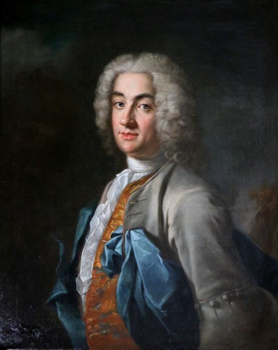 Portrait of a gentleman, attributed to Louis Tocqué (1696-1772) - Paintings & Drawings Style Louis XV