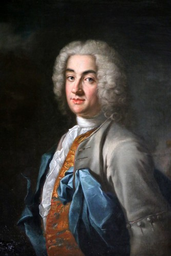 Paintings & Drawings  - Portrait of a gentleman, attributed to Louis Tocqué (1696-1772)