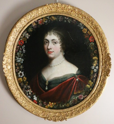 Louis XIV - Portrait of a quality lady, follower of Justus van Egmont (1601-1674)