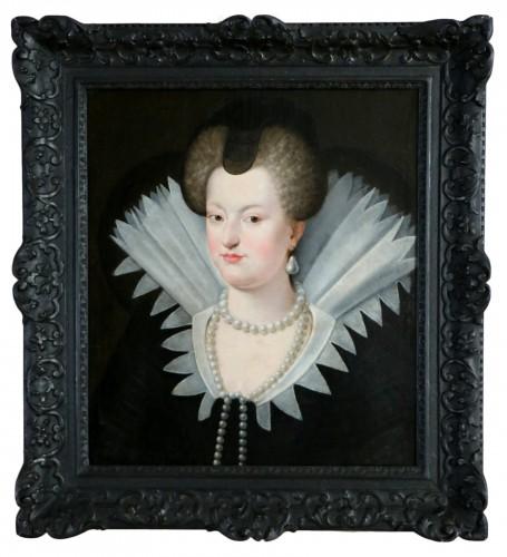 Portrait of Marie de Médicis, French School of the 18th century after Frans II Pourbus