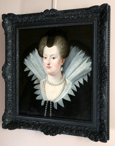 Portrait of Marie de Médicis, French School of the 18th century after Frans II Pourbus - Paintings & Drawings Style
