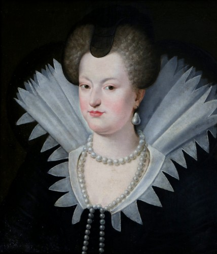 Paintings & Drawings  - Portrait of Marie de Médicis, French School of the 18th century after Frans II Pourbus