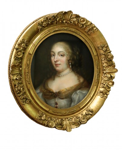 Portrait of Madame de Sévigné (1626; 1696), Pastel attributed to R.Nanteuil
