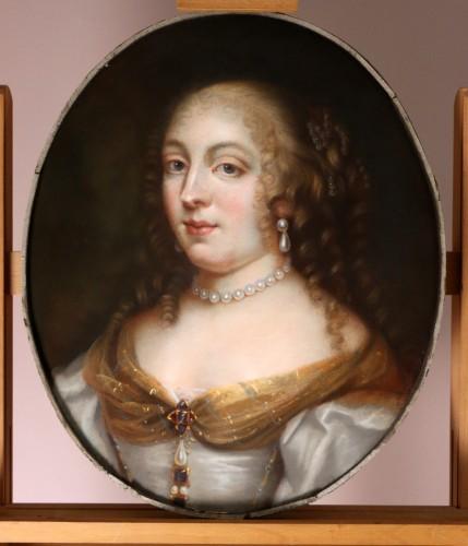 Portrait of Madame de Sévigné (1626; 1696), Pastel attributed to R.Nanteuil - Paintings & Drawings Style Louis XIV