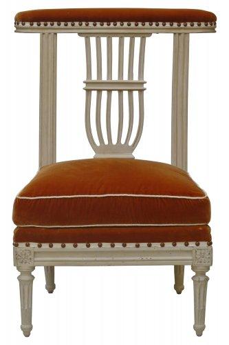 A Louis XVI voyeuse - Paris circa 1780 - Seating Style Louis XVI