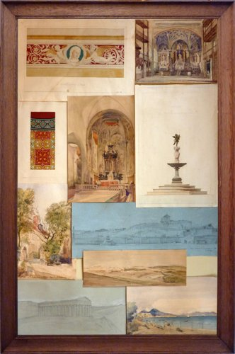 19th century - Honoré DAUMET (1826-1911) - Souvenir of the Grand Tour - Set of 43 drawings
