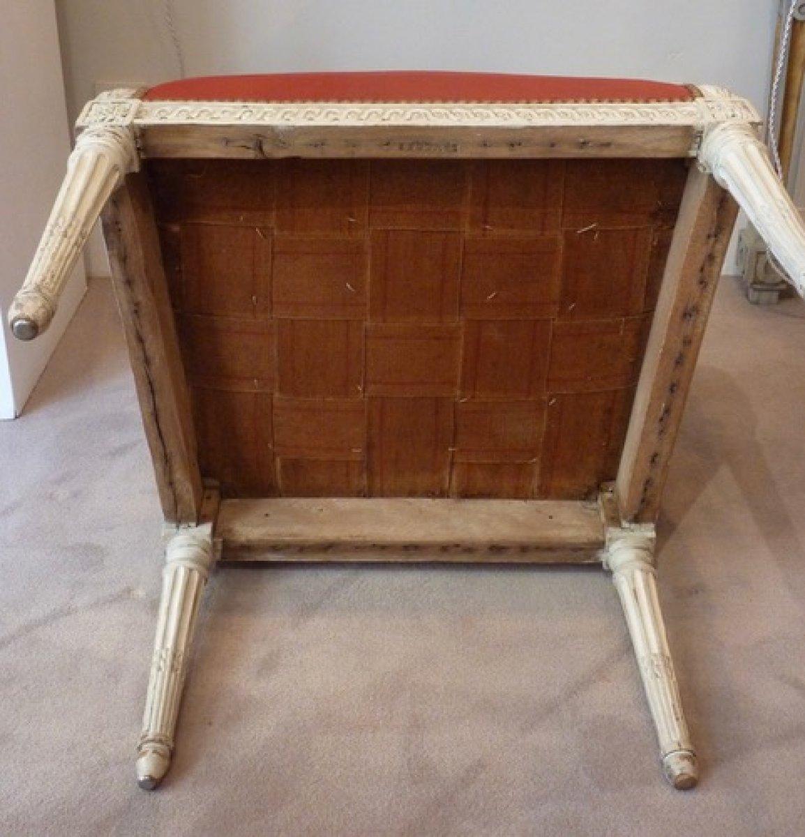 fauteuil de bureau d 39 poque louis xvi estampill i avisse xviiie si cl. Black Bedroom Furniture Sets. Home Design Ideas