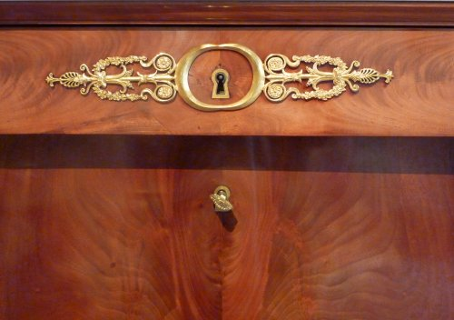 An Empire ormolu mounted mahogany Secrétaire a abattant  - Empire